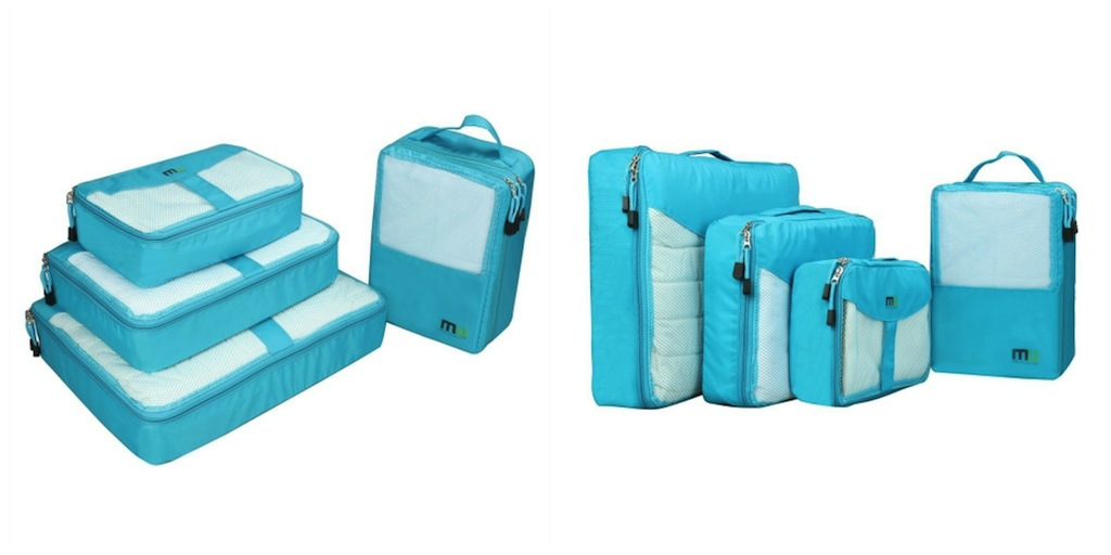 Carry-on Travel Essentials - MIU COLOR® Packing CubesBags for Travel and Trip, 4 Set, 3 Clothes Bags and 1 Shoe Bag (Blue)  #BayouTravel