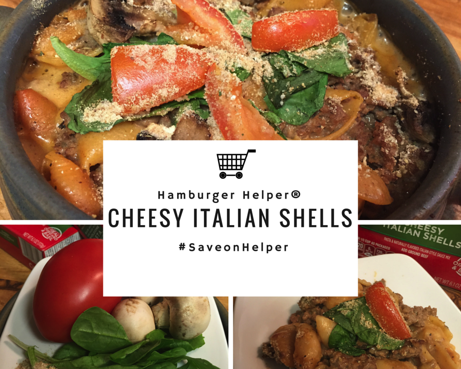 Cheesy Italian Shells - using Hamburger Helper®  #SaveonHelper  #Ad
