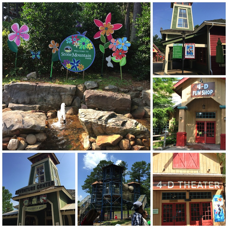 Atlanta Georgia Family Attractions - Stone Mountain Park Adventure & Theme Park Collage #BayouTravel