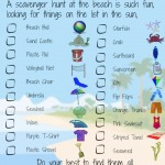 Beach Travel Printable for Kids – Beach Scavenger Hunt #BayouTravel