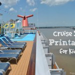 Cruise Ship Printables for Kids - How to plan your upcoming Family Cruise #BayouTravel