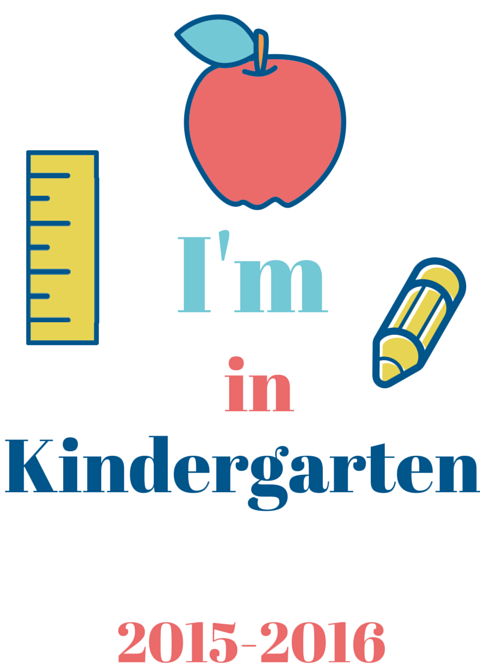 First Day of Kindergarten Sign Printable