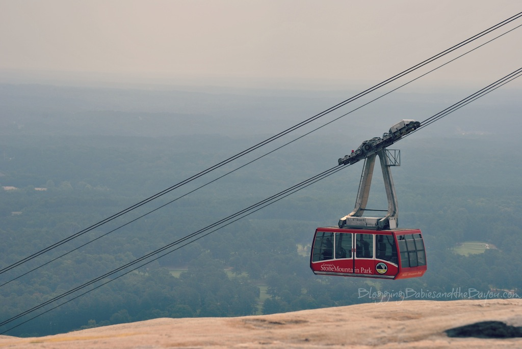 Summit view of the Tram at Stone Mountain - Atlanta Georgia Family Attractions - Stone Mountain Park Adventure & Theme Park #BayouTravel