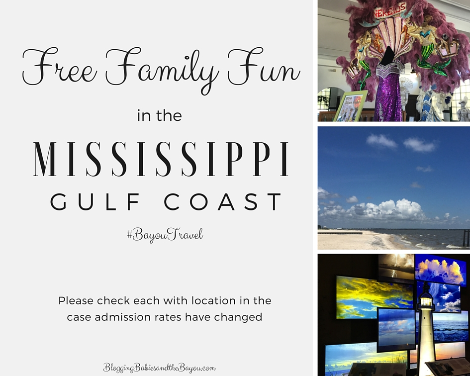 Free Family Fun in the Mississippi Gulf Coast  Area  #BayouTravel