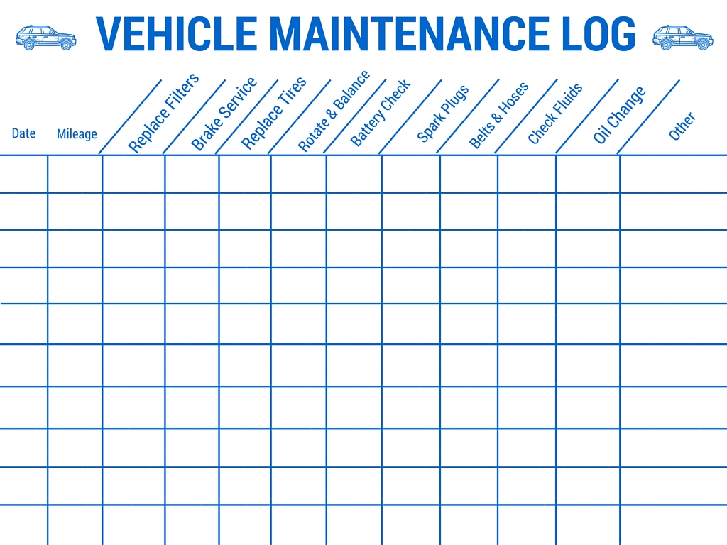 Vehicle Maintenance Log - Stay Safe on your upcoming Family Road Trip #BayouTravel