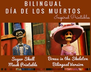 Bilingual Dia de los Muertos Day of the Dead Printable Children's Educational Learning Activity