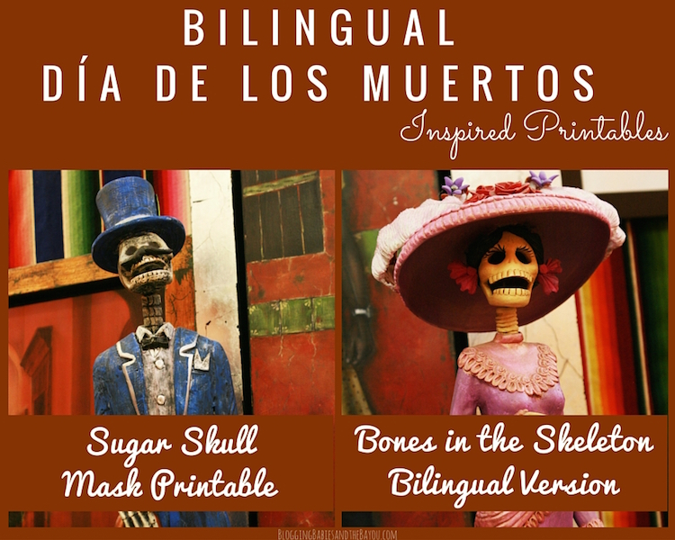 Bilingual Dia de los Muertos Inspired Printables - Education Printable in Spanish