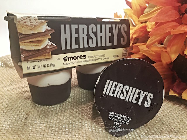 Hersheys Smores Pudding Cups - Fall Flavors + Teachers Appreciation Smores Printable #readysetsnack {ad}