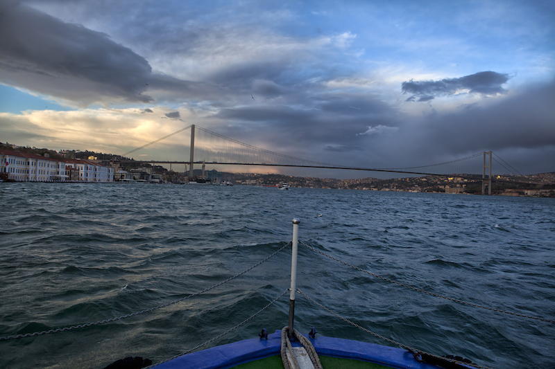 European Travel - Attractions & sites in Istanbul Turkey The Bosphorus Bridge connects Europe and Asia