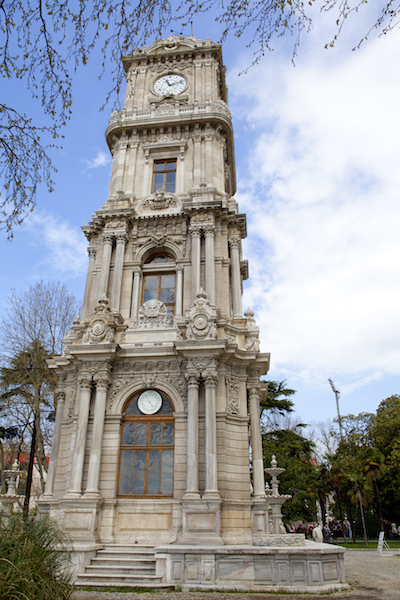 European Travel - Attractions and SitesDolmabahce clock tower in Istanbul. Turkey.