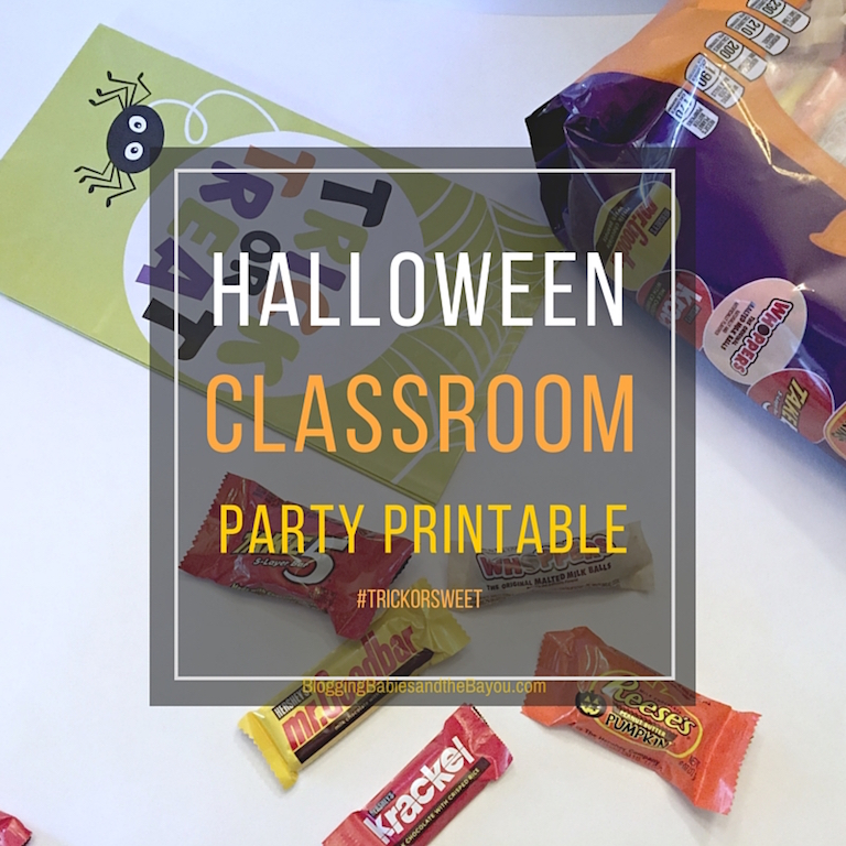 Halloween Trick or Treat Printable - Classroom or Birthday Party Companion #TrickorSweet #ad Cbias