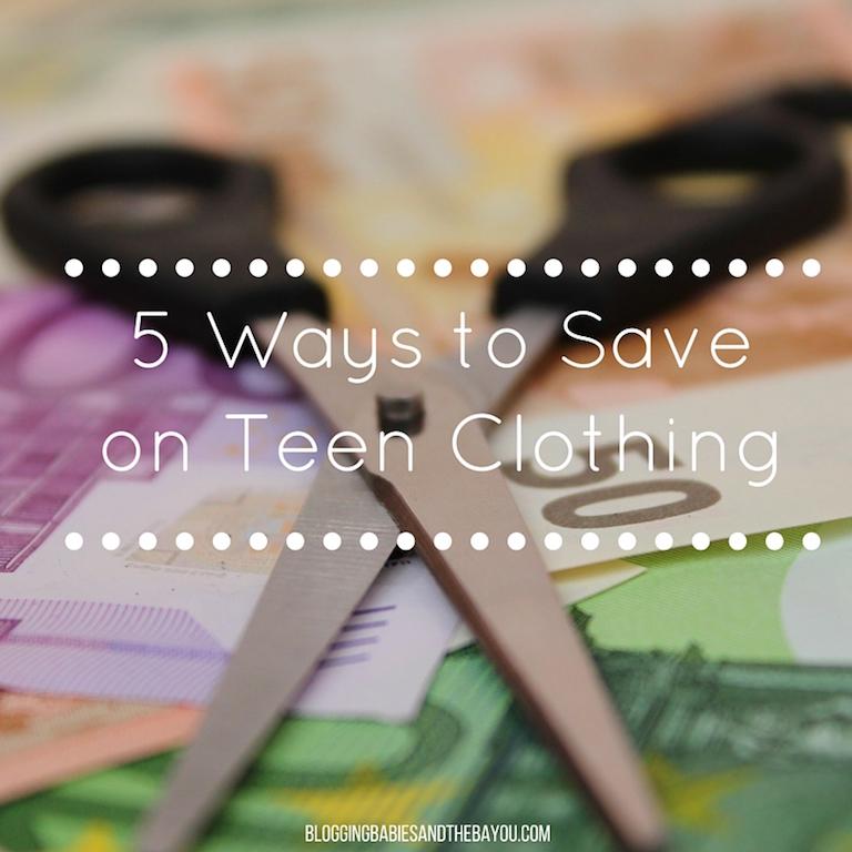 Money Saving Mondays  5 Ways To Save On Teen Clothing