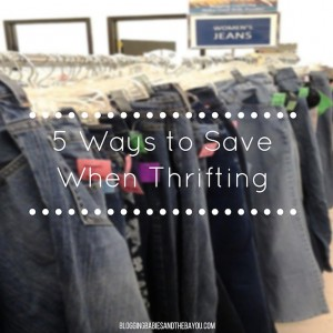 Frugal Fridays – 5 Ways to Save Money When Thrifting