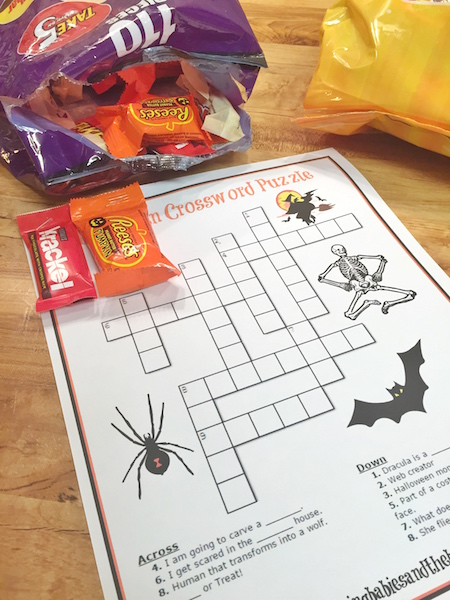Sweet Halloween Trick or Treat Party Printable