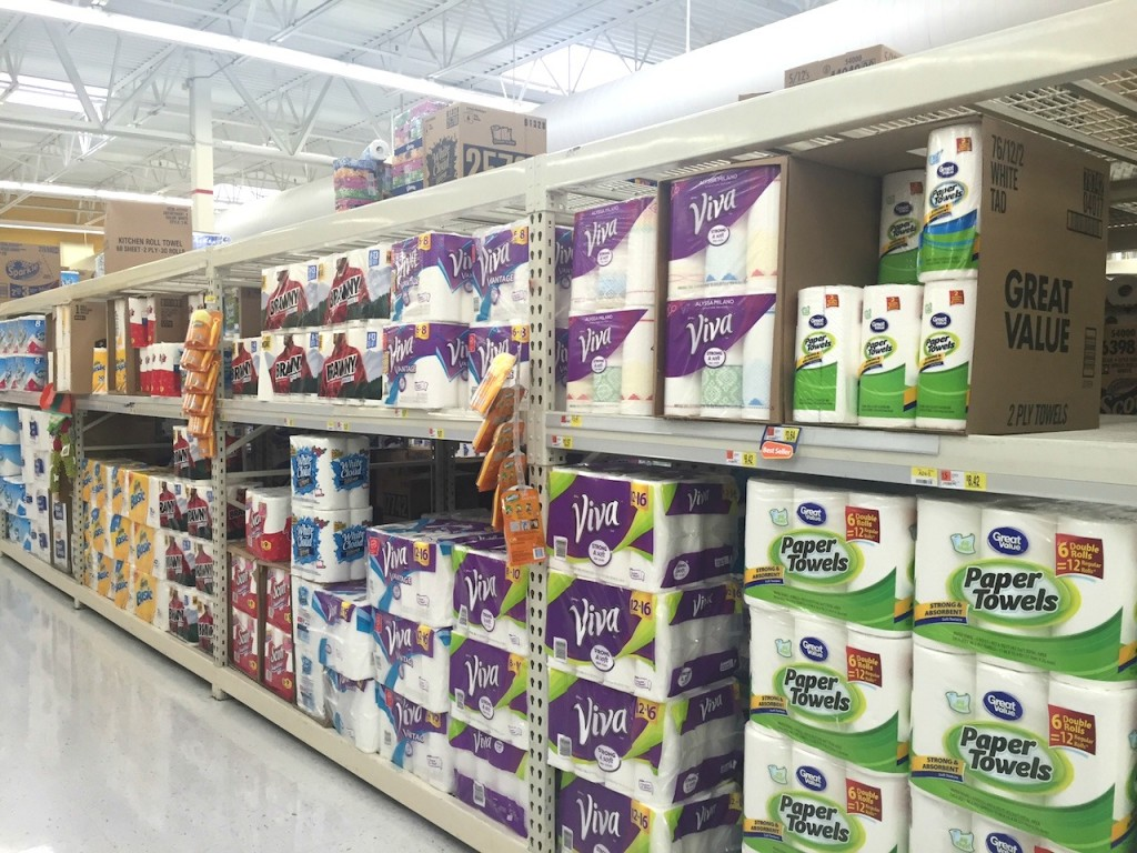 Viva Vantage Big Rolls at Walmart #GameTimeClean #Ad