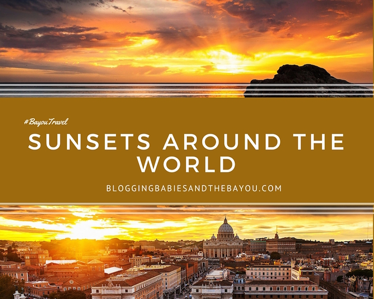 Wordless Photoblog - Amazing Sunsets Around the World #BayouTravel