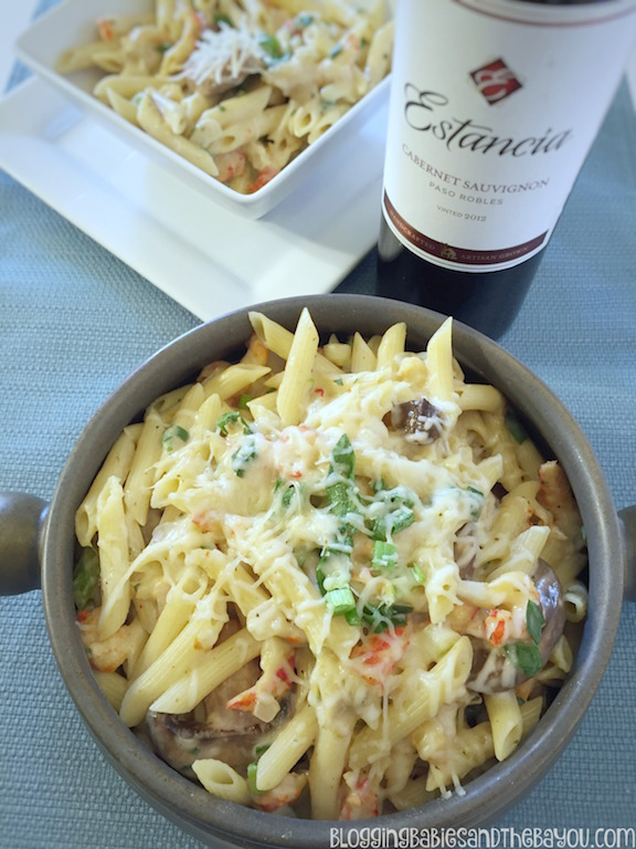 Message 4 21+ Crawfish Pasta Recipe & other Classic Entertaining Ideas from Walmart #HolidayPairings  #Ad