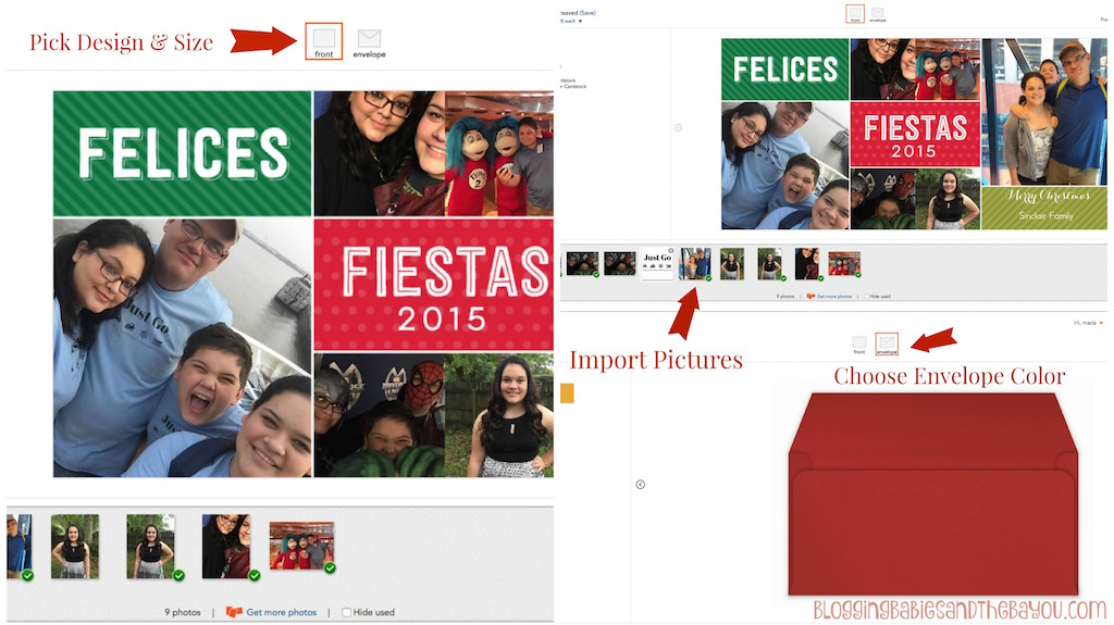 PicMonkey Collage1How to create your holiday cards from Shutterfly #MiVidaShutterfly {ad}