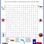 Travel Printables for Kids – San Antonio Texas Word Search for Children #BayouTravel