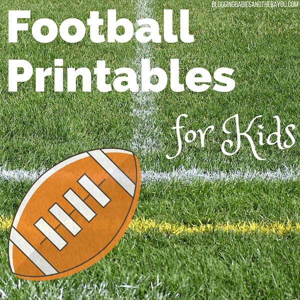 Super Bowl Activties for Children - Kid Football Printables