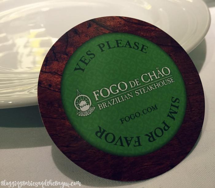 Churrasco - Continuous Dining Service (espeto corrido) Card - Fogo de Chao Brazilian Steakhouse