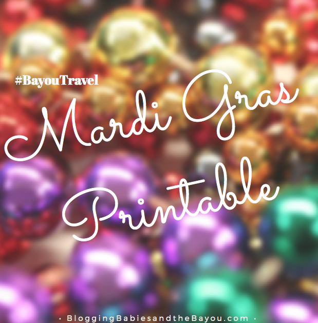 Mardi Gras : Carnival Printable - Word Search & More #BayouTravel