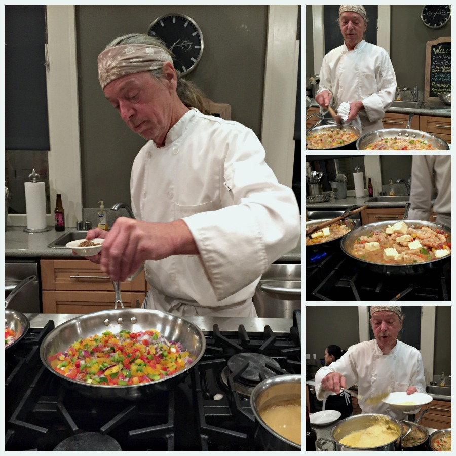 Shrimp and Grits at New Orleans Cooking Experience with special Guests the Fabulous Beekman Boys #Bayoutravel