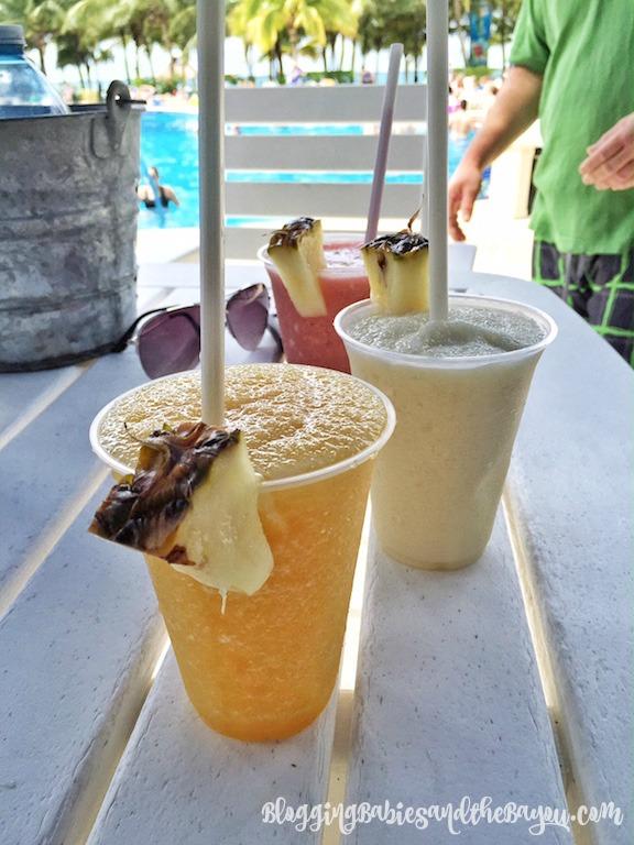 Alcoholic and Nonalcoholic drinks at Cozumel Mexico - Paradise Beach Club #BayouTravel