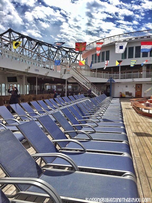 Lido Deck Chairs - Carnival Cruise Elation - Ship Details, Decor, Dining menu and more #BayouTravel