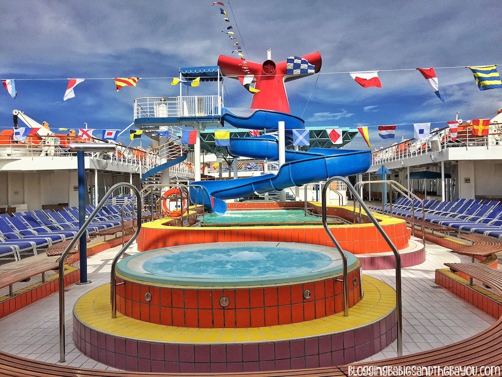Lido Deck Pool & Hot Tub Area Carnival Cruise Elation - Ship Details, Decor, Dining menu and more #BayouTravel