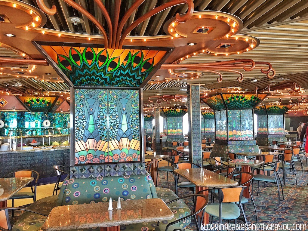 Lido Deck  Tiffany's Restaurant Carnival Cruise Elation - Ship Details, Decor, Dining menu and more #BayouTravel-