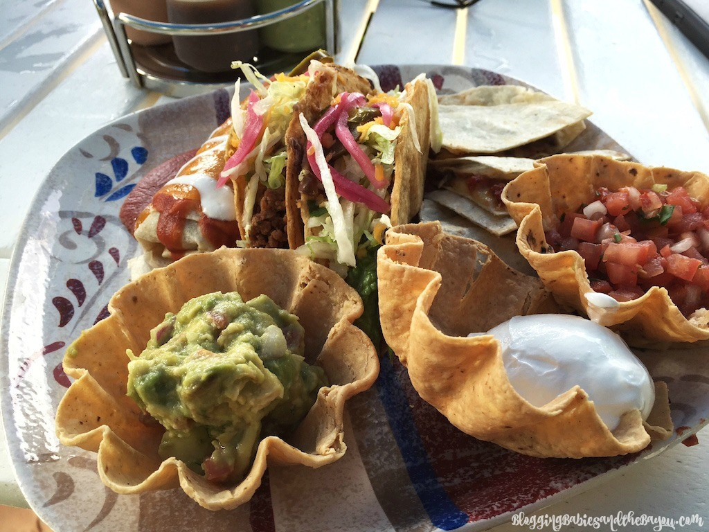 Mexican Food at Paradise Beach Cozumel Mexico