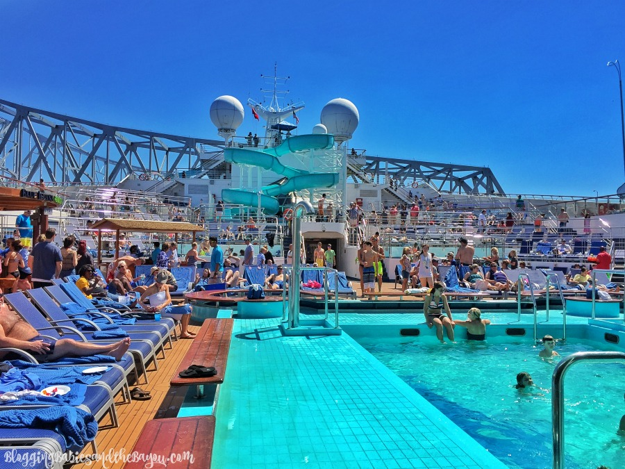 Lido Deck & More - Inside the Carnival Triumph, Port of Orleans New Cruise Ship